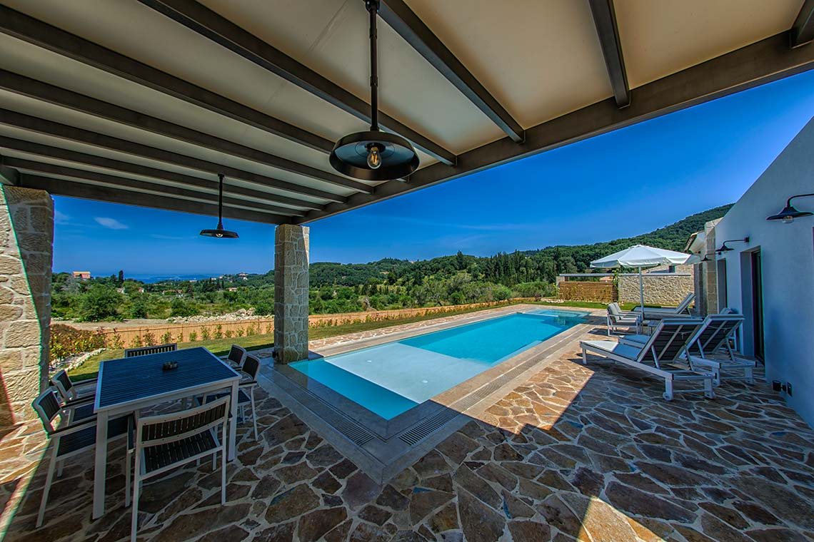 Exterior - Swimming Pool - Villas in Arillas Corfu
